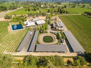 Alpha Omega winery uses a 400kW solar and 580 kWh battery microgrid.
