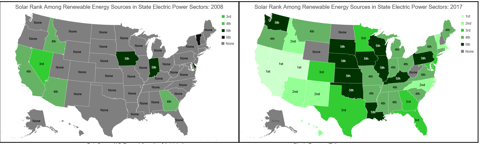 solar power, renewable energy, map, electric power sector